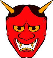 Hannya mask icon, icon cartoon