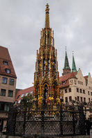 St. Lorenz church in the city Nuremberg, Bavaria, Germany