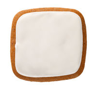 Gingerbread Cookie In Shape Of Square Isolated