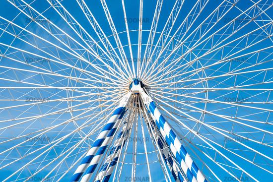 Detail of a ferris wheel