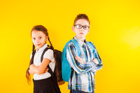 Smart boy and girl ready to learn