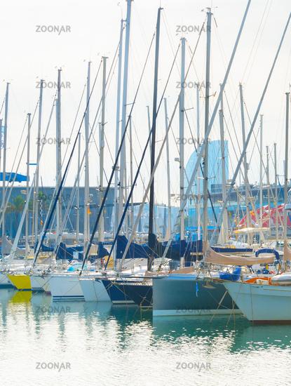 Yachts marina Port Vell Barcelona