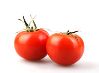 Close-Up Of Tomato Against White Background