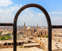 The Mosque-Madrassa of Sultan Hassan, view from the Citadel fence, Cairo, Egypt