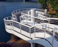 A winding staircase by the banks of the river