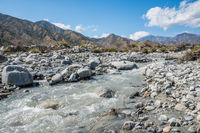 A narrow stream of water in Palm Springs, California