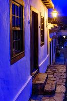 Night view of the historic city of Tiradentes in Minas Gerais