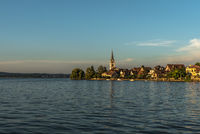 View of Berlingen, Lake Constance, Canton Thurgau, Switzerland
