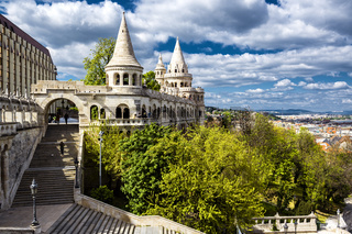 Fisherman's Bastion. Budapest city. Hungary