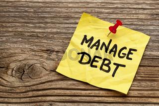 manage debt reminder note