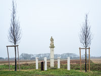 Column with statue of saint leonhard in burgenland