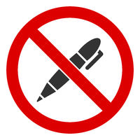 Flat Raster No Pen Icon