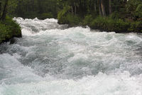 Rapids on a mountain river.