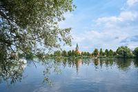 View of Werder island on the river Havel near Potsdam in Germany
