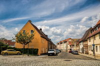 Delitzsch, Germany - 06/19/2019 - street in the old town