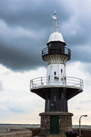 Historic lighthouse, Brunsbuettel, Schleswig-Holstein, North Sea, Germany