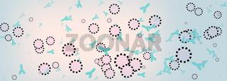 virus antikörper grafik strukturen abstrakt