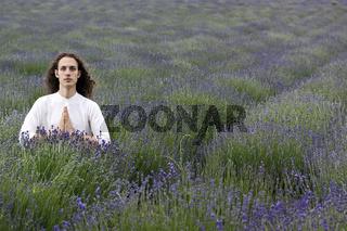 Meditating young yogi