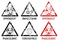 Set of Stamp Epidemic, Pandemic and Infection