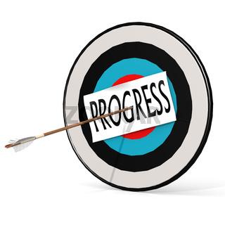 Arrow, progress  and board