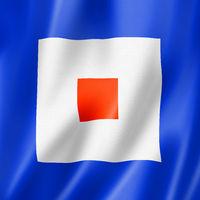 Whiskey international maritime signal flag