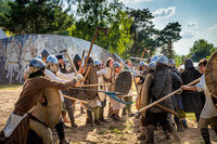 Historical reenactment of Battle of Cedynia, Poland