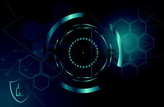 IT security concept background