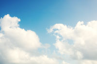 sunny blue sky cloud background