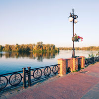 Promenade along the Dnieper River