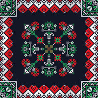 Romanian traditional pattern 209