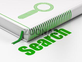 Web design concept: book Search, Search on white background