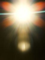 strange light flare background