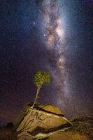 Milky Way galaxy shining brightly over arid Australia