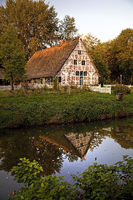 Altlaender house on the Stader island, open-air museum, Stade, Lower Saxony, Germany, Europe