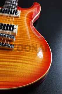 Cherry sunburst electric guitar