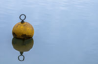 Yellow Mooring Buoy on Calm Water