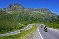 motorcycles at the Silvretta High Alpine Road, Austria, europe