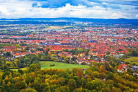 Bamberg. Aerial panoramic view of town of Bamberg
