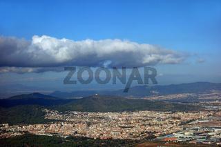 Landeanflug auf bilbao in Spanien