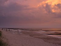 Dramatic Sunset at the Baltic Sea near Ahrenshoop, Mecklenburg-Western Pomerania, Germany