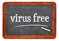 virus free blackboard sign