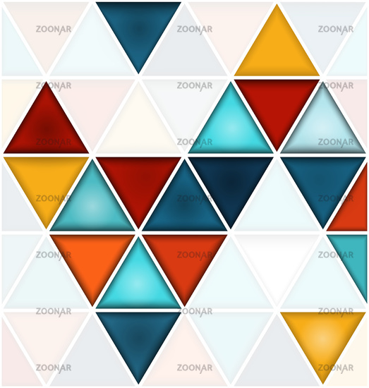 Triangles background with white copy space