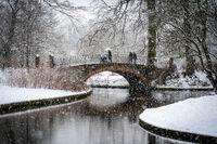 Winter in Frederiksberg Gardens in Copenhagen
