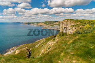 Emmett's Hill, South West Coast Path, Jurassic Coast, Dorset, UK