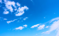 Blue sky with white clouds - natural background
