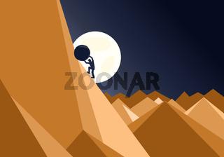 Sisyphus Concept Vector
