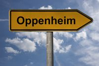 Wegweiser Oppenheim | signpost Oppenheim