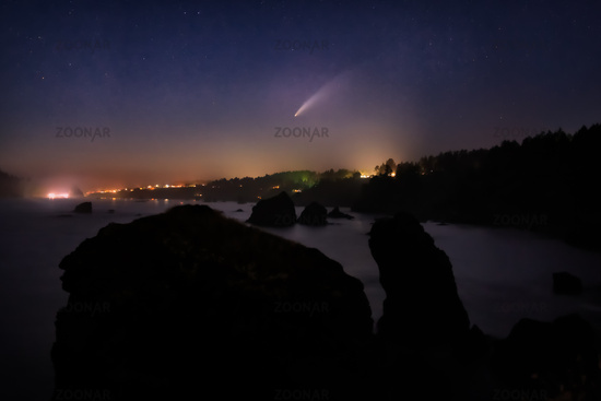 Comet Neowise Over Northern California, USA
