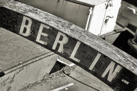 Marking the home port of a ship with the lettering Berlin