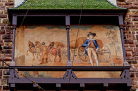 Facade painting at the city gate in Freiburg